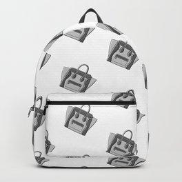Grey Monotone Neutral Céline Vibes High Fashion Purse Illustration Backpack