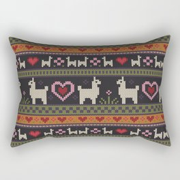 Llama Love Knit Rectangular Pillow