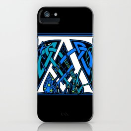 Celtic Peacocks letter A iPhone Case