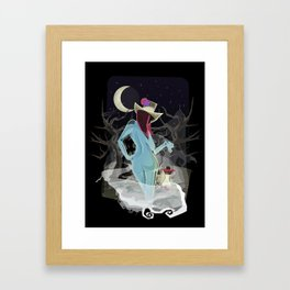 Welcome To The Darkness Framed Art Print
