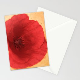 Lonesome Poppy Flower (Orange version) Stationery Cards