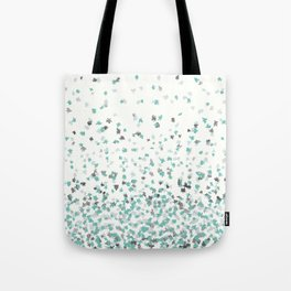 Floating Confetti - Cream Mint and Silver Tote Bag