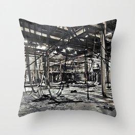 Abandon Battery Factory Throw Pillow