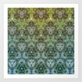 Forest Lake. sacred geometry. seamless pattern Art Print