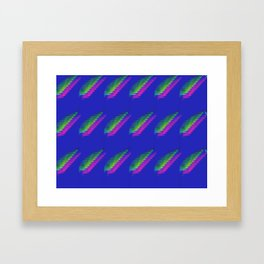 Twin Feathers Framed Art Print