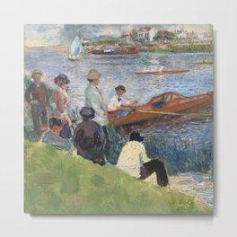 Renoir meets Seurat at the river Metal Print