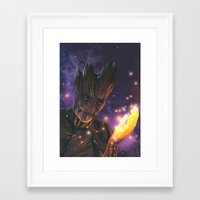 groot Framed Art Prints featuring Groot by Aferova