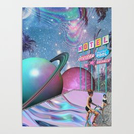 Barbie DreamMotel - Trippy Collage Poster