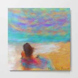A Day At The Beach Metal Print