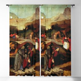 "Hieronymus Bosch ""Temptation of Saint Anthony"" (Antiga) 2 left wing Blackout Curtain"