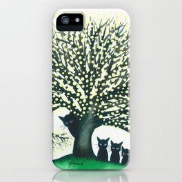 Illinois Whimsical Cats iPhone Case