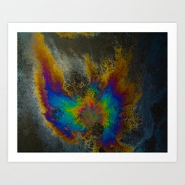 Oil On Pavement: Find Your Wings Art Print