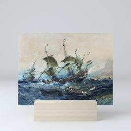 12,000pixel-500dpi - Dutch Ships In A Storm - Eugene Isabey Mini Art Print