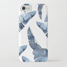 Banana Leaves 2 Blue iPhone 7 Slim Case