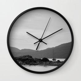Resting at Orcas Wall Clock
