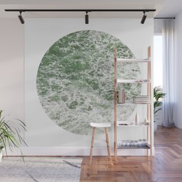 Frothy Green Ocean Sea Waves Pacific Water Pinhole Circle Geometric Photography Art Mural Northwest Wall Mural