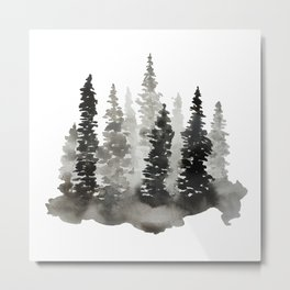 Fading Forest Metal Print