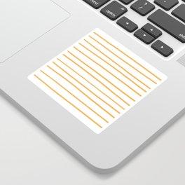 VA Bright Marigold - Spring Squash - Pure Joy - Just Ducky Hand Drawn Horizontal Lines on White Sticker
