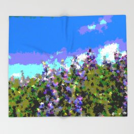 Lupines Throw Blanket