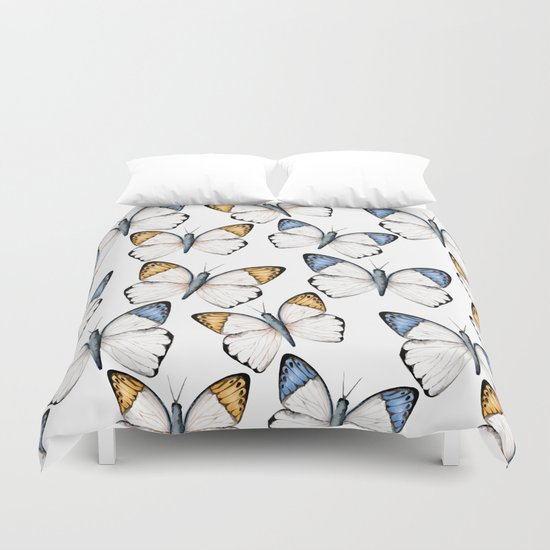 Tropical butterflies  Duvet Cover