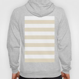 Horizontal Stripes - White and Pearl Brown Hoody