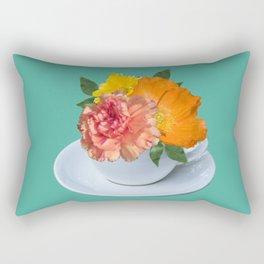 Floral Teatime Rectangular Pillow