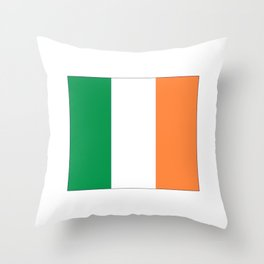 Irish flag -ireland,eire,airlann,irish,gaelic,eriu,celtic,dublin,belfast,joyce,beckett Throw Pillow