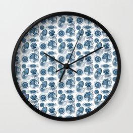 Ernst Haeckel Jellyfish Leptomedusae Prussian Blue Wall Clock