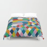 honeycomb Duvet Covers featuring Honeycomb by Project M