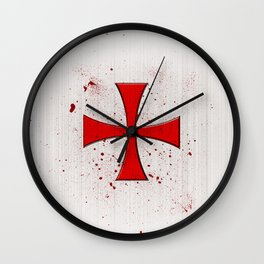 The Crusades Bloody Knight Templar Wall Clock