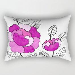 Rosette Mauve Rectangular Pillow