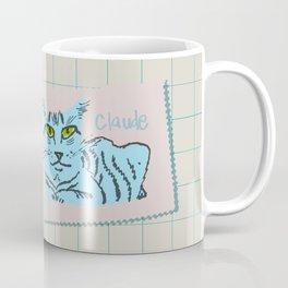 Claude Cat Blue Coffee Mug