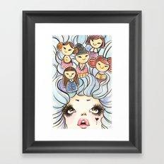 Kokeshis Framed Art Print