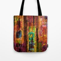 rio Tote Bags featuring Rio by FYLLAYTA, surface design,Tina Olsson