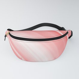 Warm volumetric red curves of lines with delicate outlines of rings and semicircles.  Fanny Pack