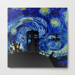 Starry Night at Halloween Metal Print