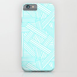 Sketchy Abstract (Aqua & White Pattern) iPhone Case