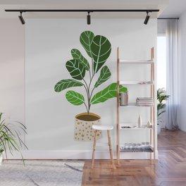 Fiddle leaf fig plant // Fiddle leaf fig artwork // Fiddle leaf decor Wall Mural