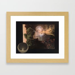 Another city another Love Framed Art Print