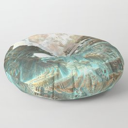 Aqua Space Shipyard Floor Pillow