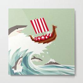 Sharkwave Metal Print
