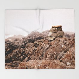 Inukshuk Throw Blanket