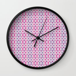 beads and lines pattern Wall Clock