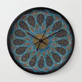 Blue Tiles Wall Clock