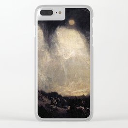 William Turner - Snow Storm: Hannibal and his Army Crossing the Alps Clear iPhone Case