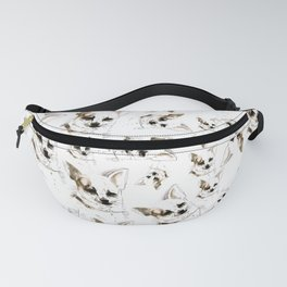 Chihuahua watercolor pattern Fanny Pack