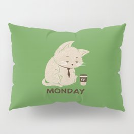 Monday Cat Pillow Sham