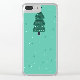 May Your Days Be Merry And Bright Christmas Tree Print Clear iPhone Case