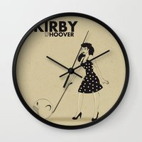 kirby Wall Clocks featuring Kirby Hoover by Lily's Factory