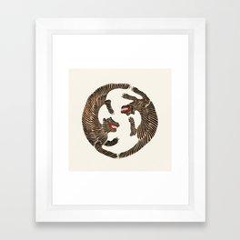Vintage Japanese Tiger design Framed Art Print